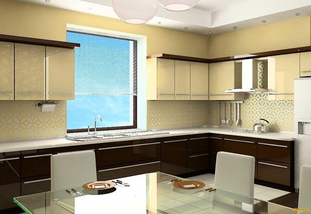 Интерьер кухни с окнами фото