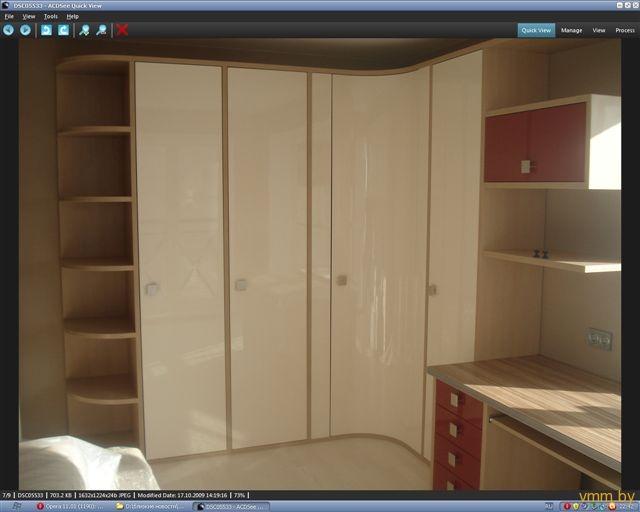 угловой шкаф белый глянец фото